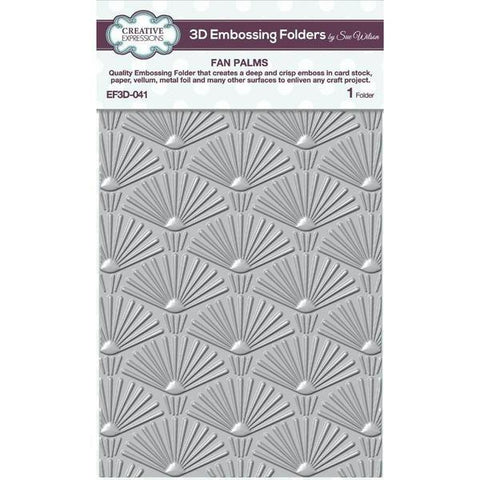 3D Embossing Folder - Fan Palms