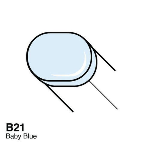 Copic Sketch Marker - B21 - Baby Blue