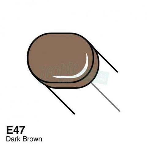 Copic Sketch Marker - E47 - Dark Brown