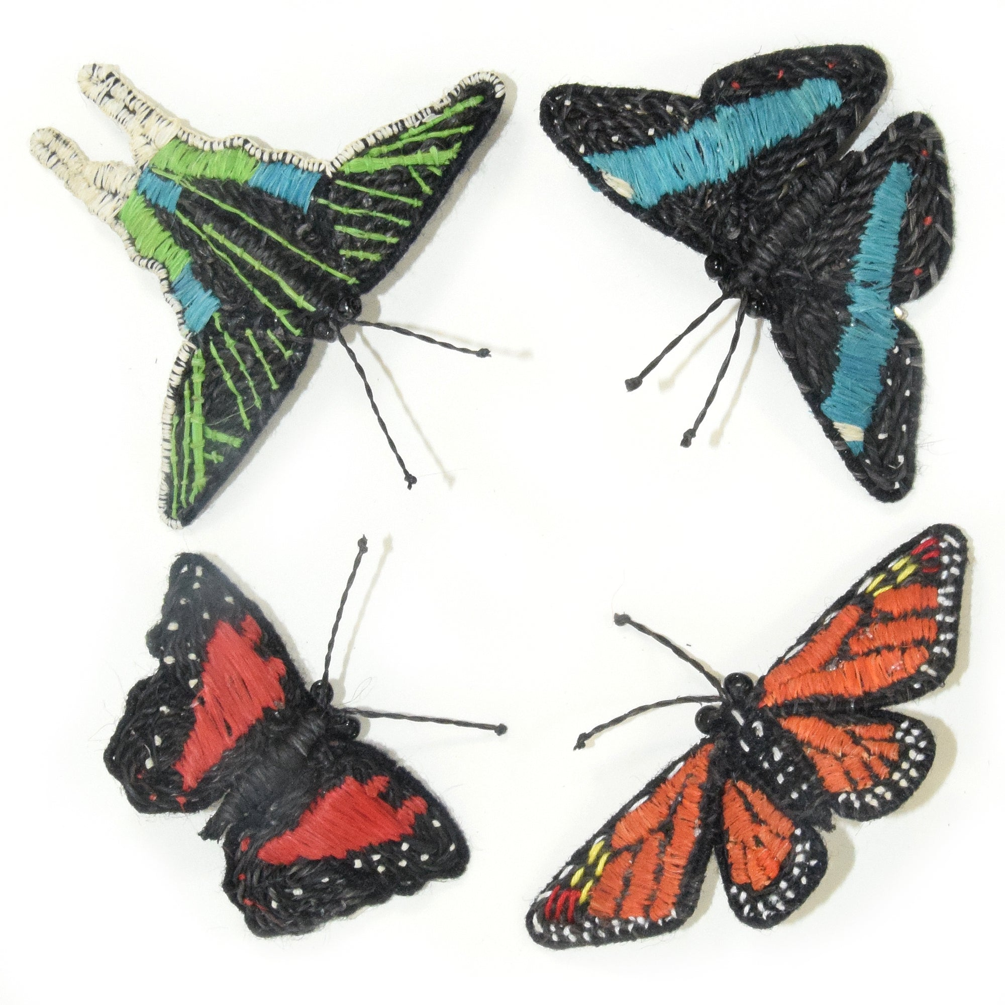 Hand-made butterfly barrettes and ornaments
