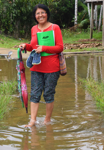 Carmen from Sisters of Mercy at AVP workshop in Brillo Nuevo.  Photo by Campbell Plowden/Amazon Ecology