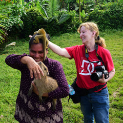 Amazon Ecology volunteer photographer in Peru. Photo by Campbell Plowden/Amazon Ecology