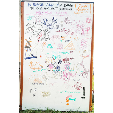 Community Nature Art mural (Saturday) at the CACE booth at the Philadelphia Folk Festival 2019