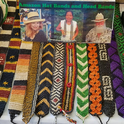 Woven hat bands at the CACE booth at the Strawberry Festival 2019