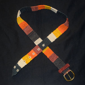 FAIR -TRADE HAND-MADE BELT (BT02B) CORAL SNAKE - NACA NACA PATTERN 2- WOVEN BY PERUVIAN AMAZON ARTISAN