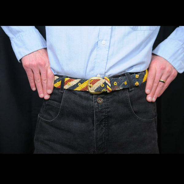 FAIR -TRADE HAND-MADE BELT (BT02L) CORAL SNAKE - NACA NACA PATTERN 4- WOVEN BY PERUVIAN AMAZON ARTISAN