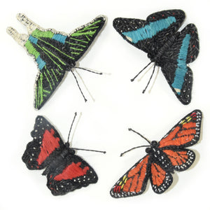 Woven butterfly hair clip barrettes and hat fascinators