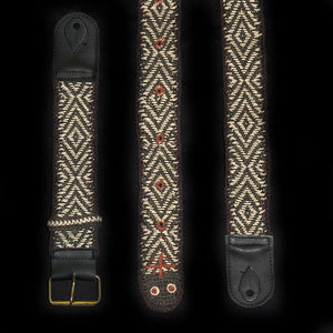 GS01A : Fair-Trade hand-made Amazon guitar strap - black Anaconda model