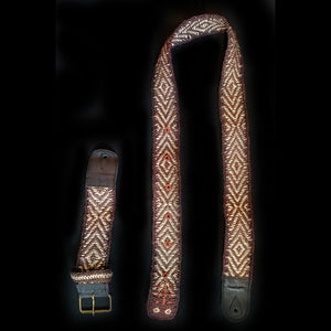 GS01B : Fair-trade hand-made Amazon guitar strap - Anaconda model
