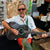 GS01C: Jhon Fleming with Amazon green anaconda guitar strap -