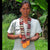 GS02A: Native artisan Ania Ruiz with Amazon guitar strap - coral snake model