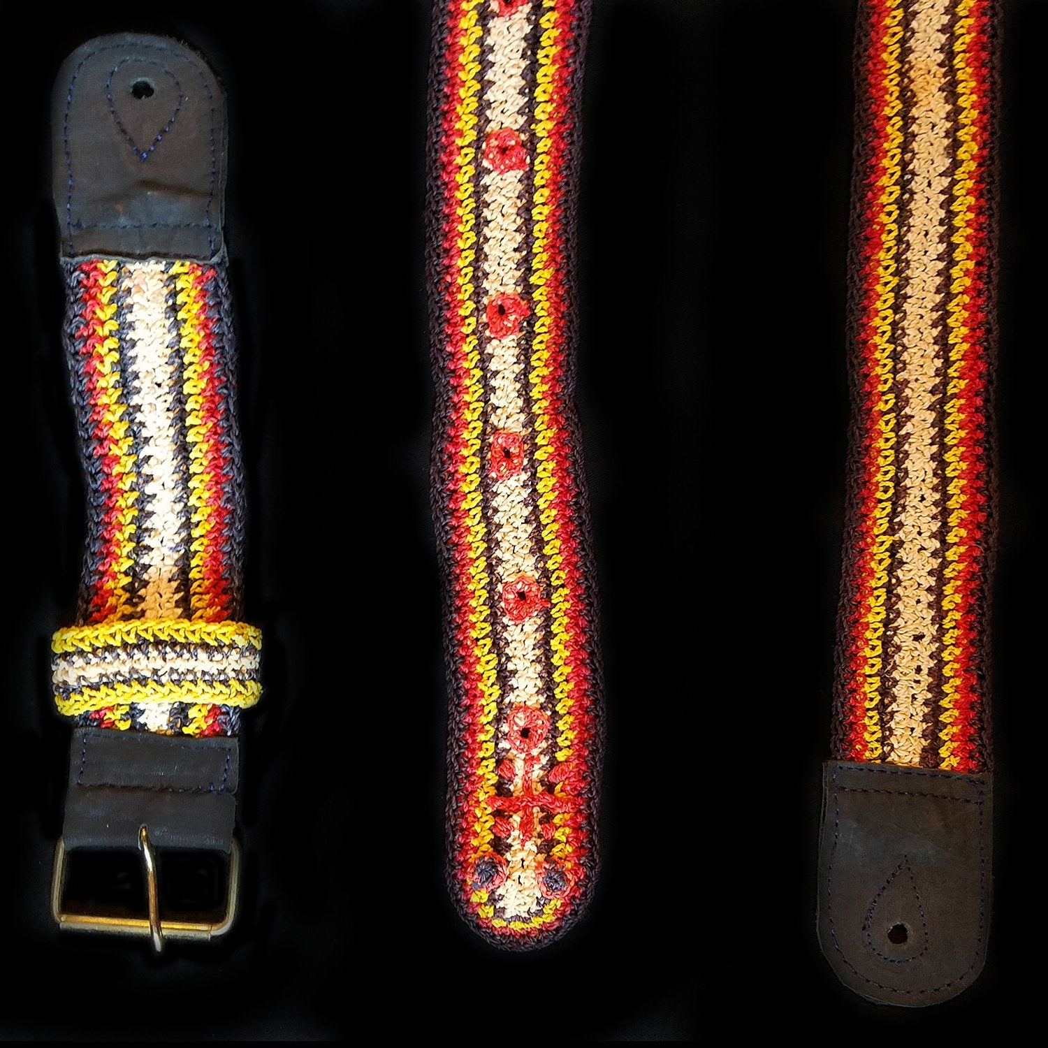 GS06A : Fair-trade hand-made Amazon guitar strap - bushmaster model