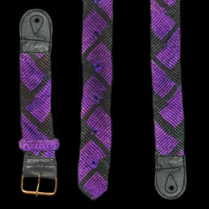 GS14A : Fair-trade hand-made Amazon guitar strap - purple patch model