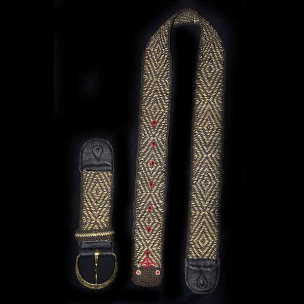 GSL01A : Fair-Trade hand-made Amazon guitar strap - Black Anaconda model