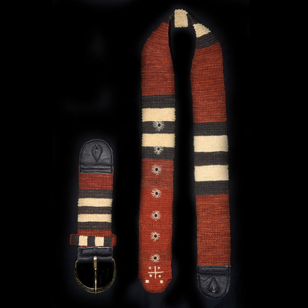 GSL02A: Fair-Trade hand-made Amazon guitar strap - Coral snake model