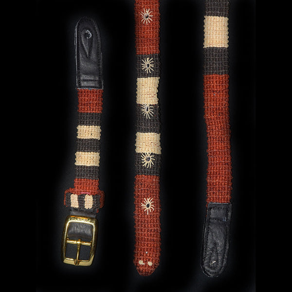 GSM02A : Fair-Trade hand-made Amazon mandolin strap - coral snake model