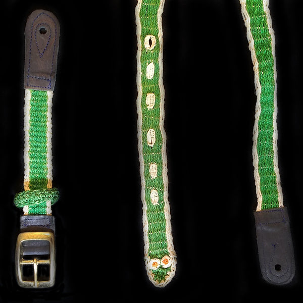 GSM10B : Fair-Trade hand-made Amazon mandolin strap - emerald tree boa model