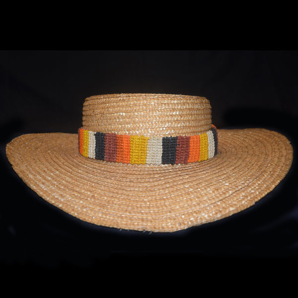 Fair-trade Hand-made Hat band - coral snake/naca naca pattern HB02