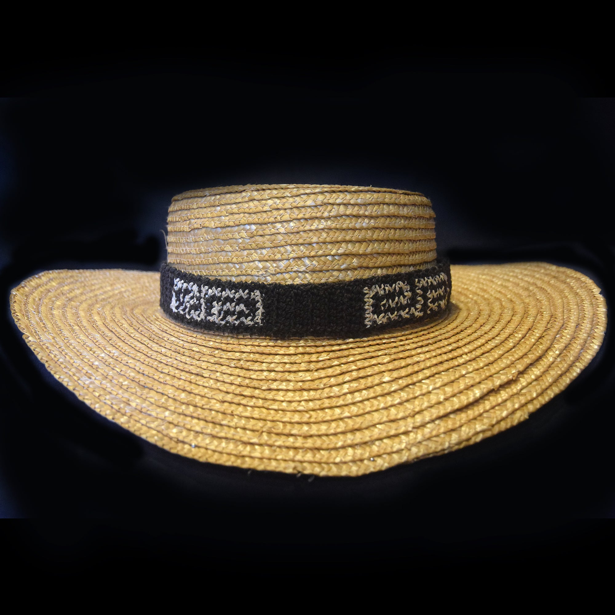 Fair-trade Hand-made Hat band - Bora labyrinth pattern - BT03A