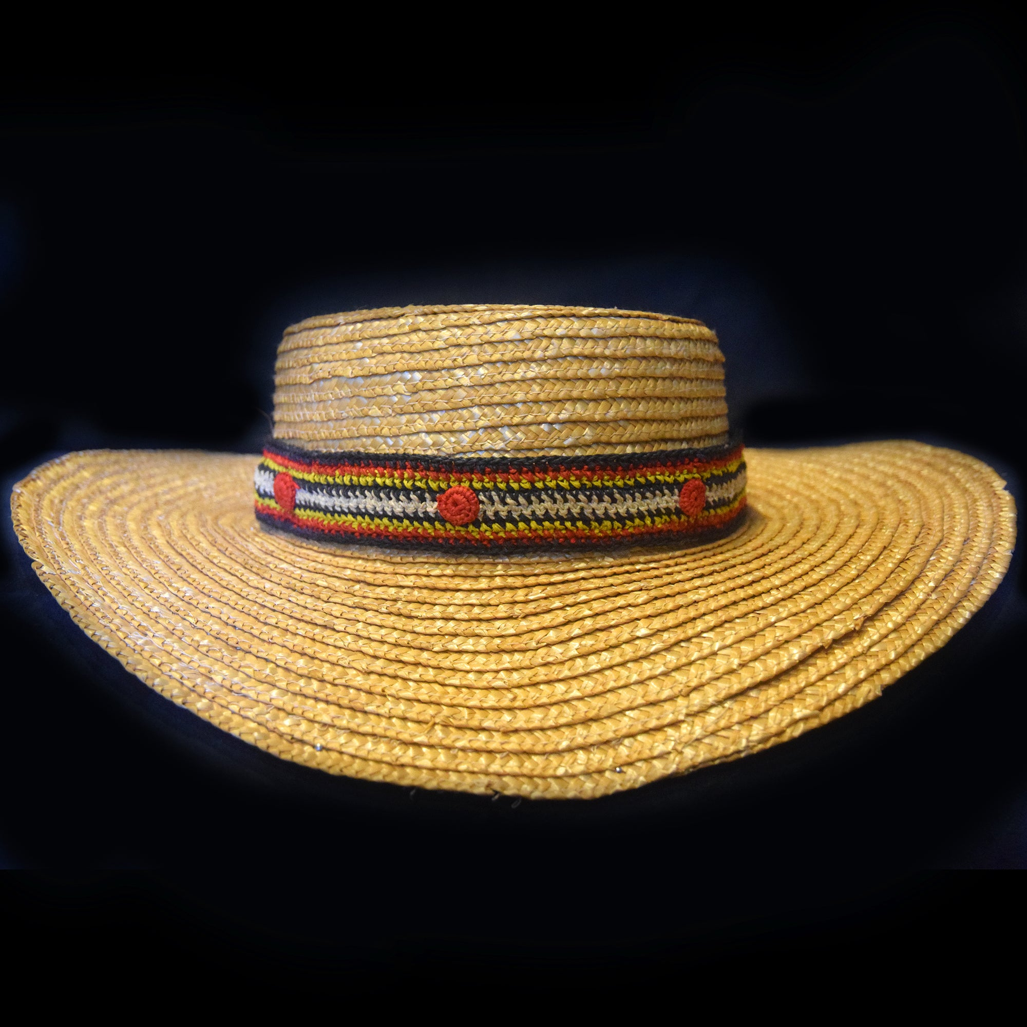 Fair-trade Hand-made Hat band - 6 stripe bushmaster/shushupe snake - HB06A