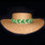 Fair-trade Hand-made Hat band - Green tree pit viper/Loro machaco snake - HB15B