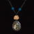 Ayahuasca vine and mother-of-pearl pendant macrame necklace