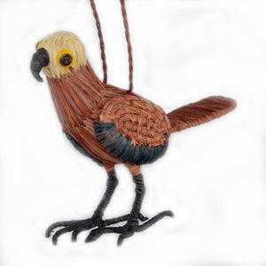 BLACK-COLLARED HAWK BIRD - FAIR-TRADE CHRISTMAS TREE ORNAMENT - WOVEN BY PERUVIAN AMAZON ARTISAN