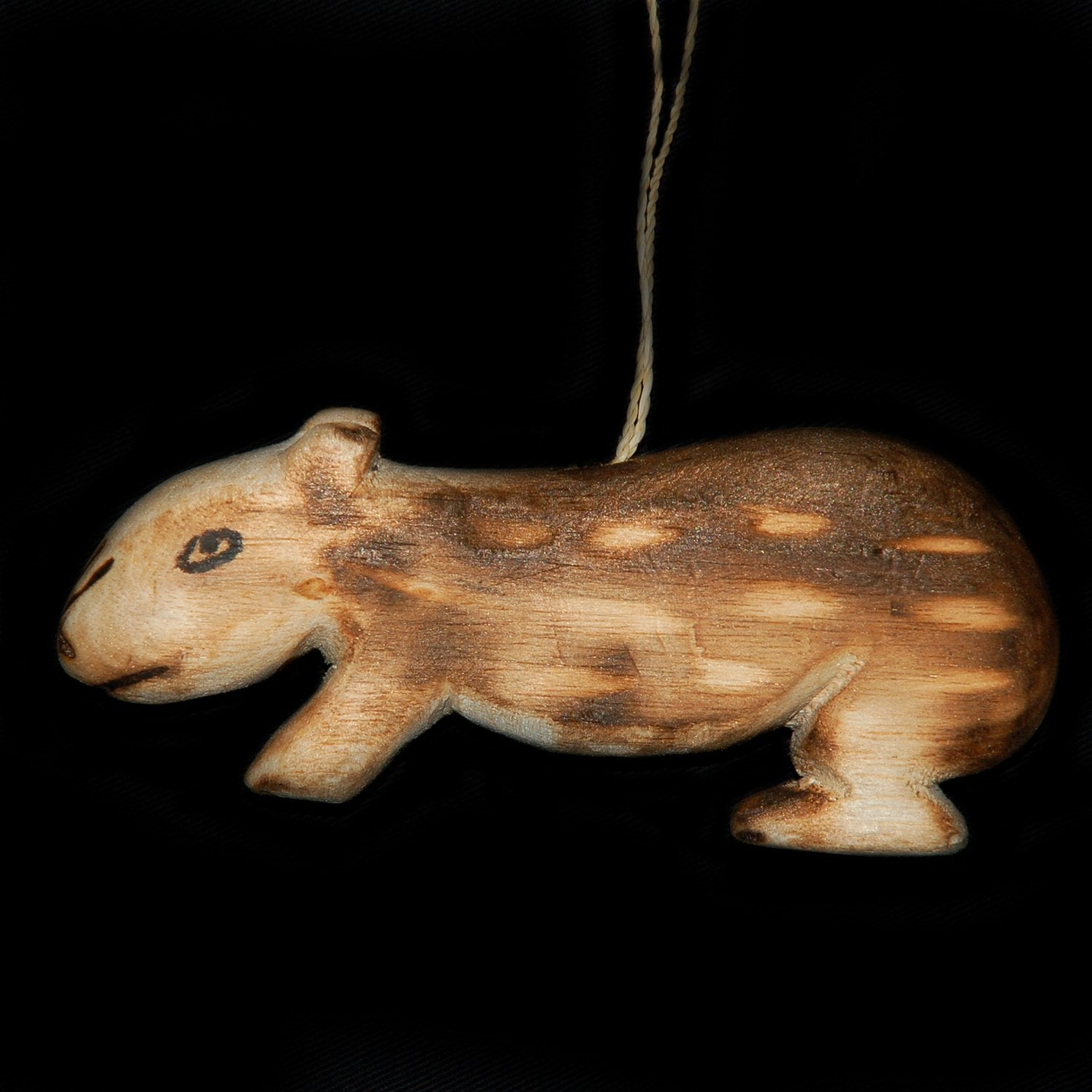 FAIR-TRADE CHRISTMAS TREE BALSA WOOD ORNAMENT - PACA - CARVED BY ARTISAN FROM PERUVIAN AMAZON