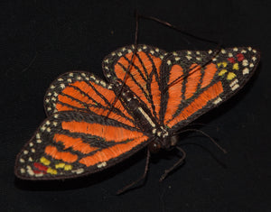 HAND-MADE MONARCH BUTTERFLY ORNAMENT FROM THE PERUVIAN AMAZON