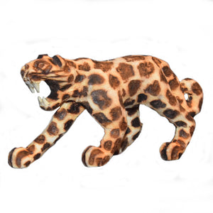 JAGUAR BALSA WOOD FAIR -TRADE ORNAMENT- CARVED BY PERUVIAN AMAZON ARTISAN