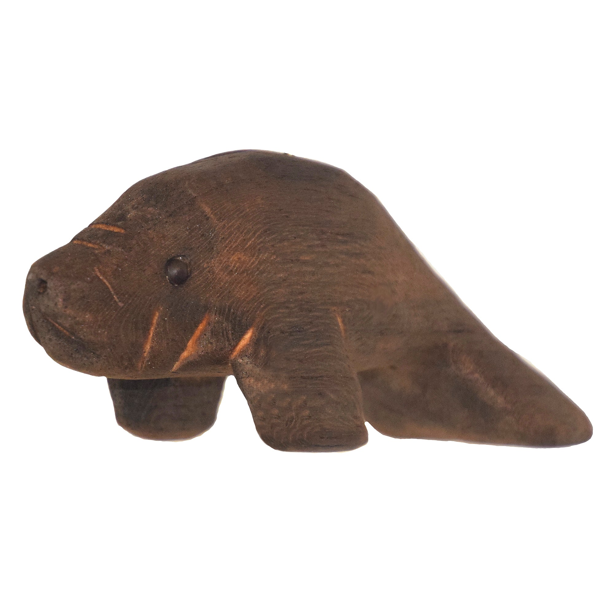 MANATEE BALSA WOOD FAIR -TRADE ORNAMENT - CARVED BY PERUVIAN AMAZON ARTISAN