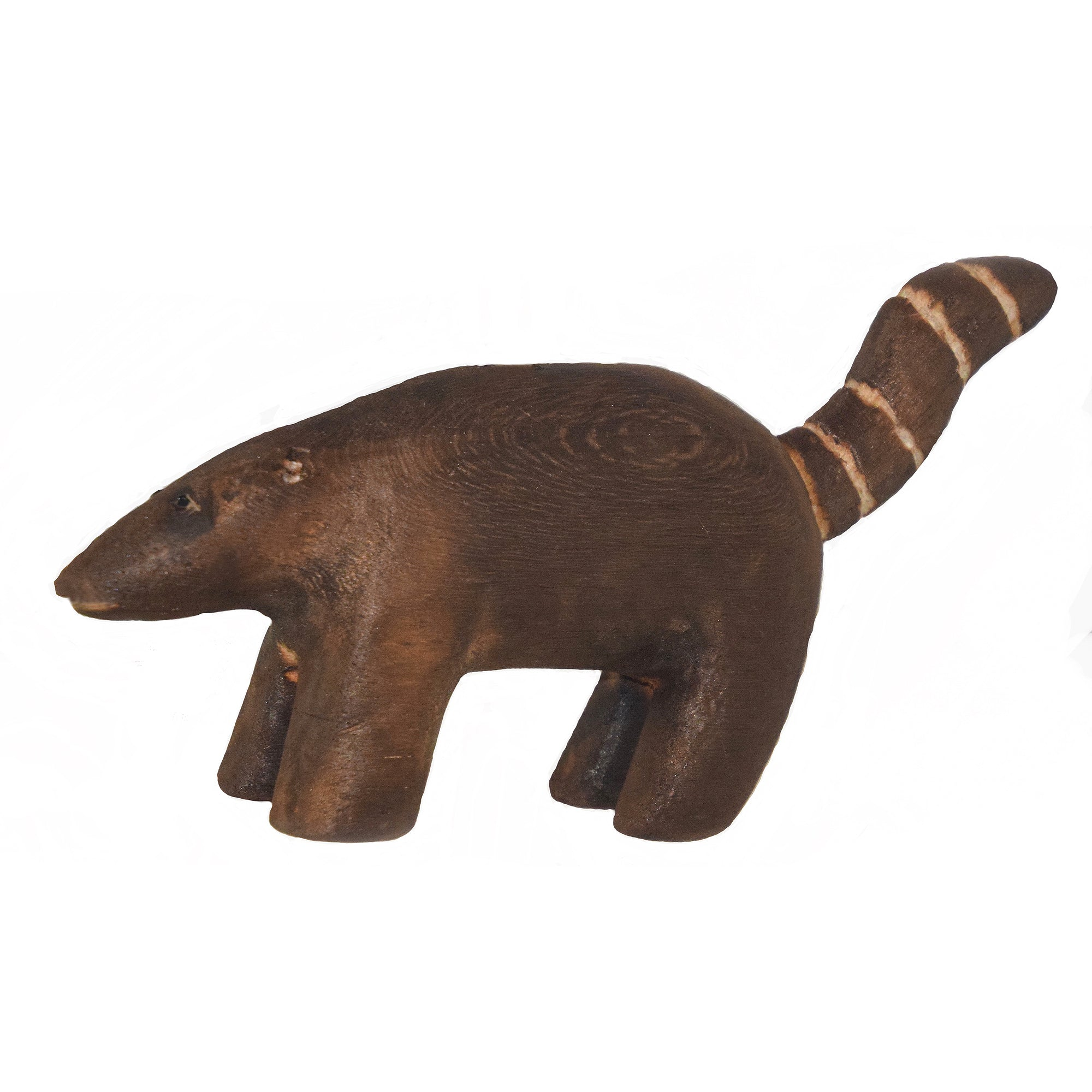 COATI BALSA WOOD FAIR -TRADE ORNAMENT - CARVED BY PERUVIAN AMAZON ARTISAN