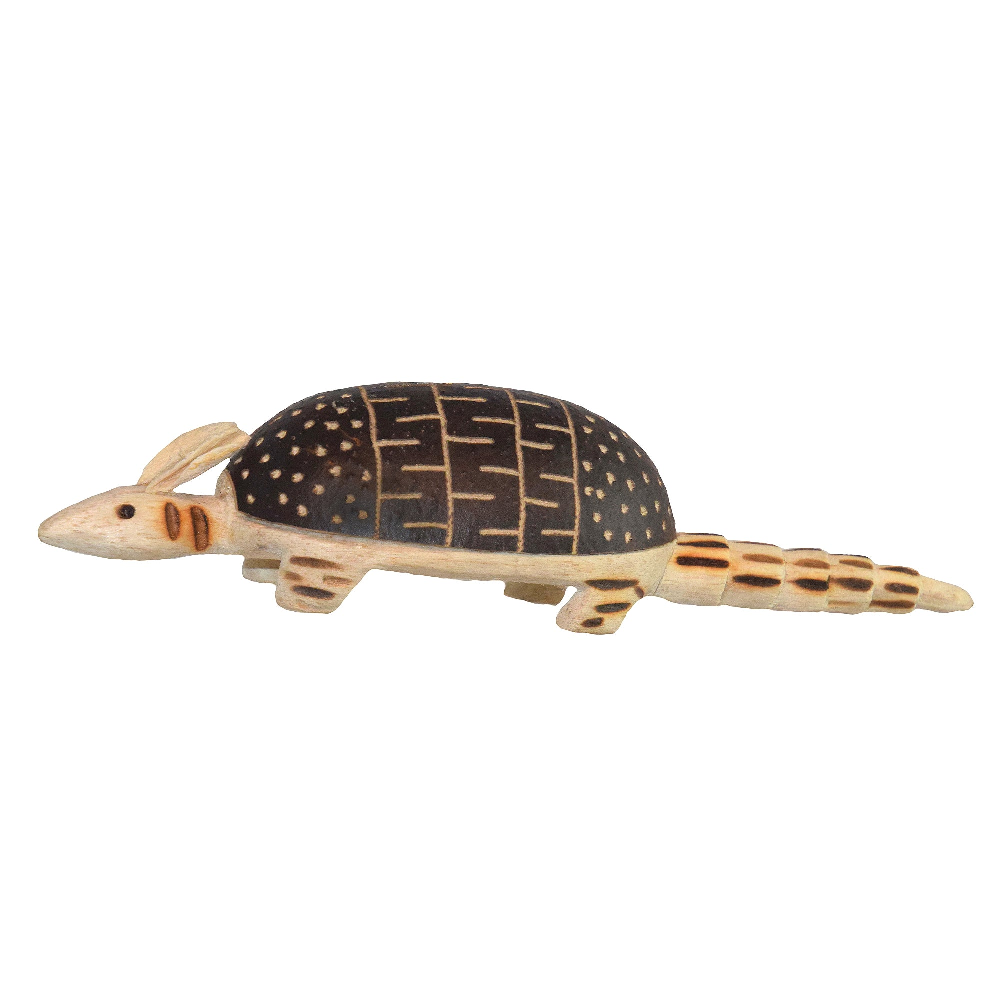 ARMADILLO BALSA WOOD FAIR-TRADE ORNAMENT - CARVED BY PERUVIAN AMAZON ARTISAN