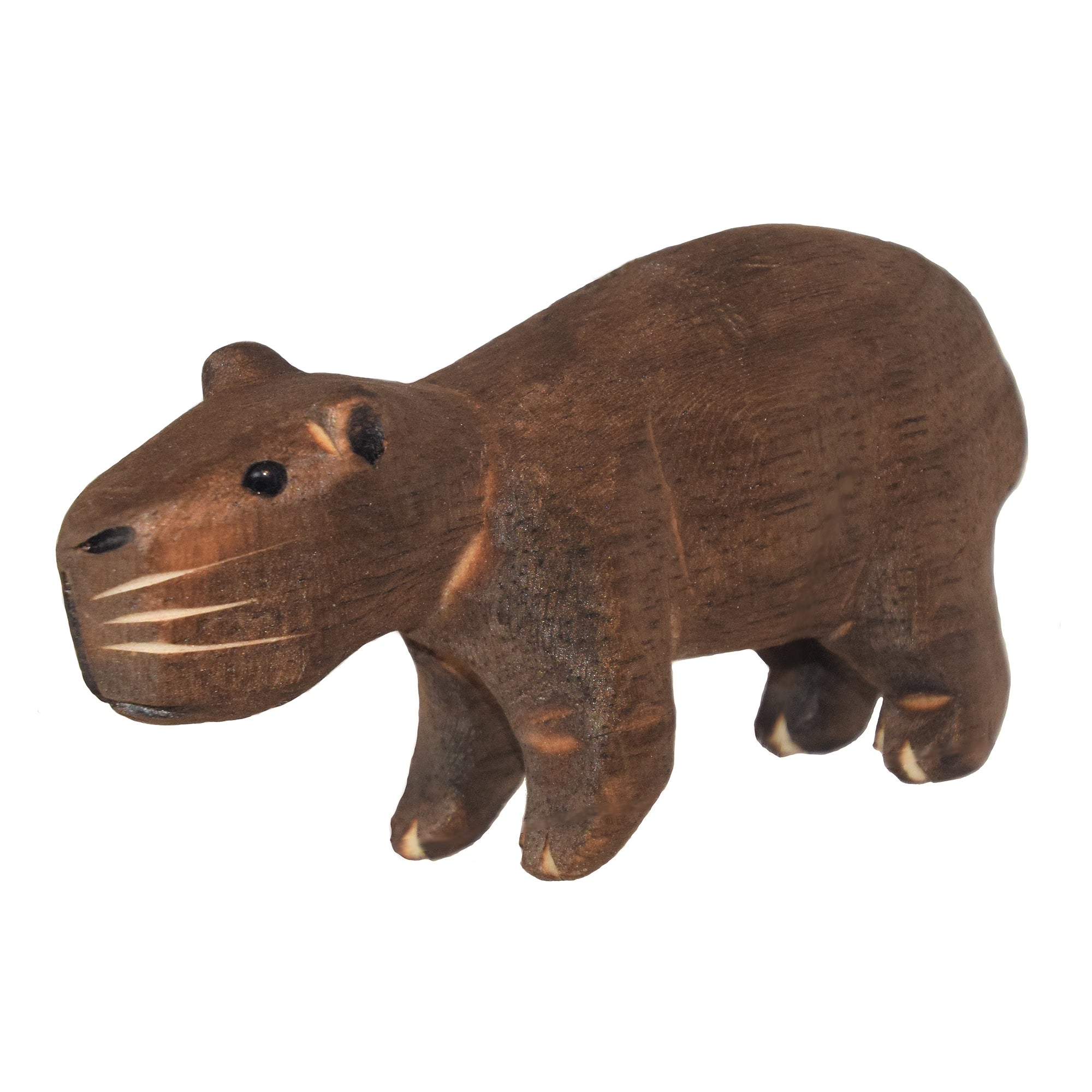 CAPYBARA BALSA WOOD FAIR -TRADE ORNAMENT - CARVED BY PERUVIAN AMAZON ARTISAN