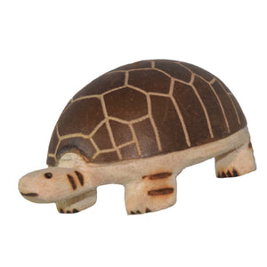 TURTLE BALSA WOOD FAIR -TRADE ORNAMENT - CARVED BY PERUVIAN AMAZON ARTISAN