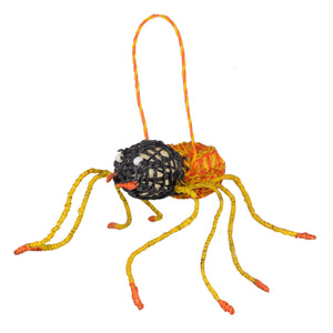 PLAYFUL SPIDER ORNAMENT - HAND-MADE BY ARTISAN FROM THE PERUVIAN AMAZON