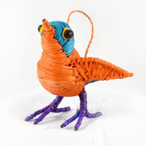 COLORFUL SONG BIRD - FAIR TRADE CHRISTMAS TREE ORNAMENT - WOVEN BY PERUVIAN AMAZON ARTISAN