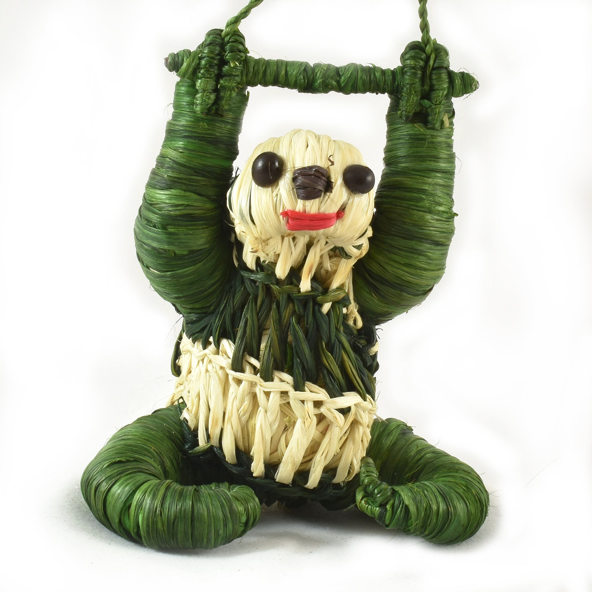 FAIR -TRADE CHRISTMAS TREE ORNAMENT - SLOTH - WOVEN BY PERUVIAN AMAZON ARTISAN