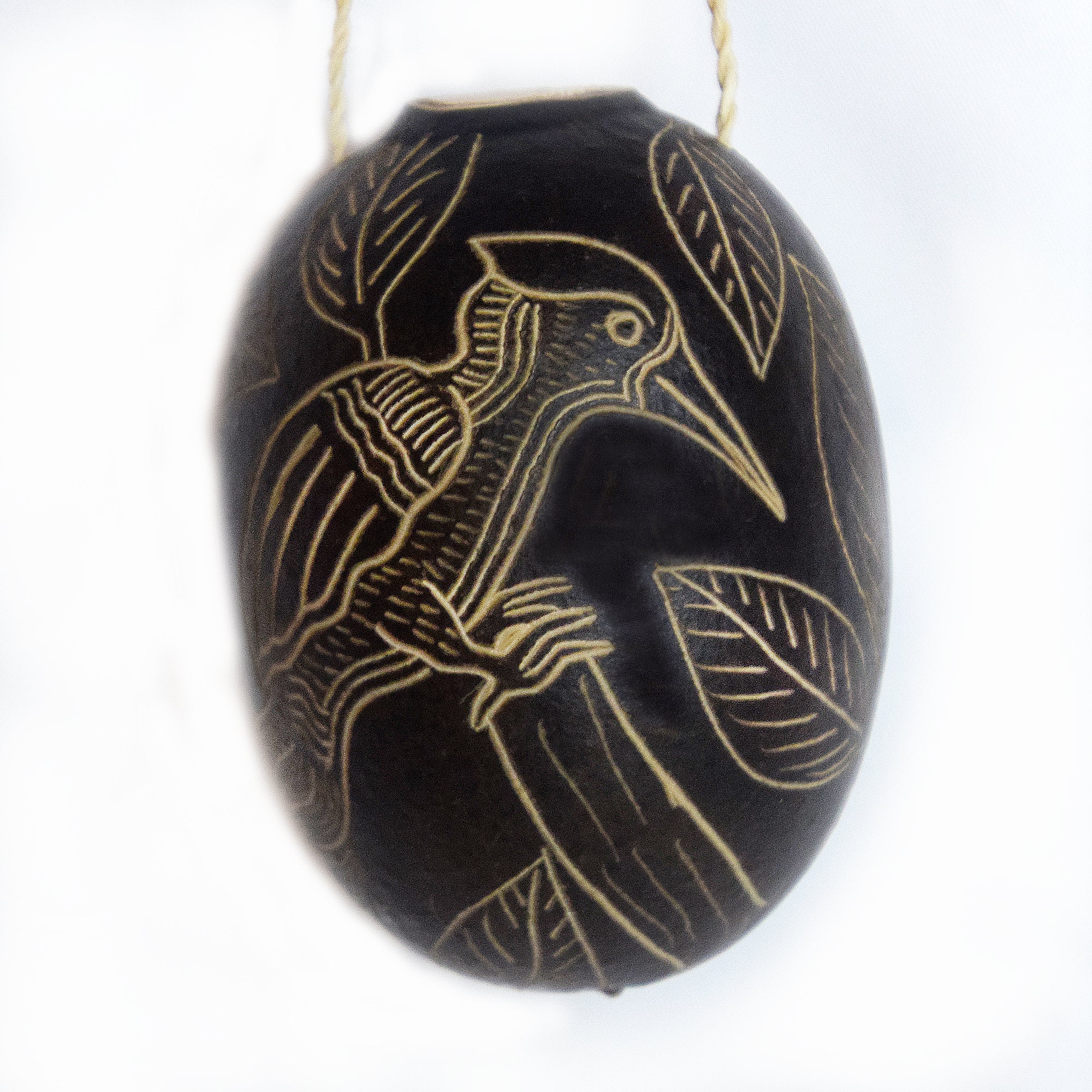Woodpecker Bird Calabash Christmas tree ornament and hand rattle