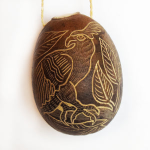 Eagle Bird Calabash Christmas tree ornament and hand rattle