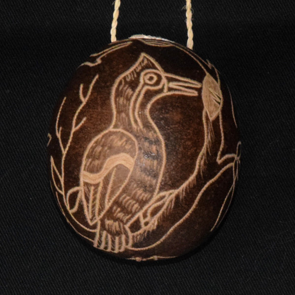 Calabash Christmas tree ornament and hand rattle - assorted birds