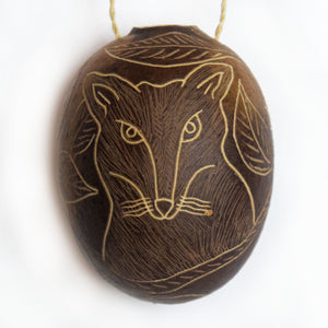 Fox Mammal Calabash Christmas tree ornament and hand rattle