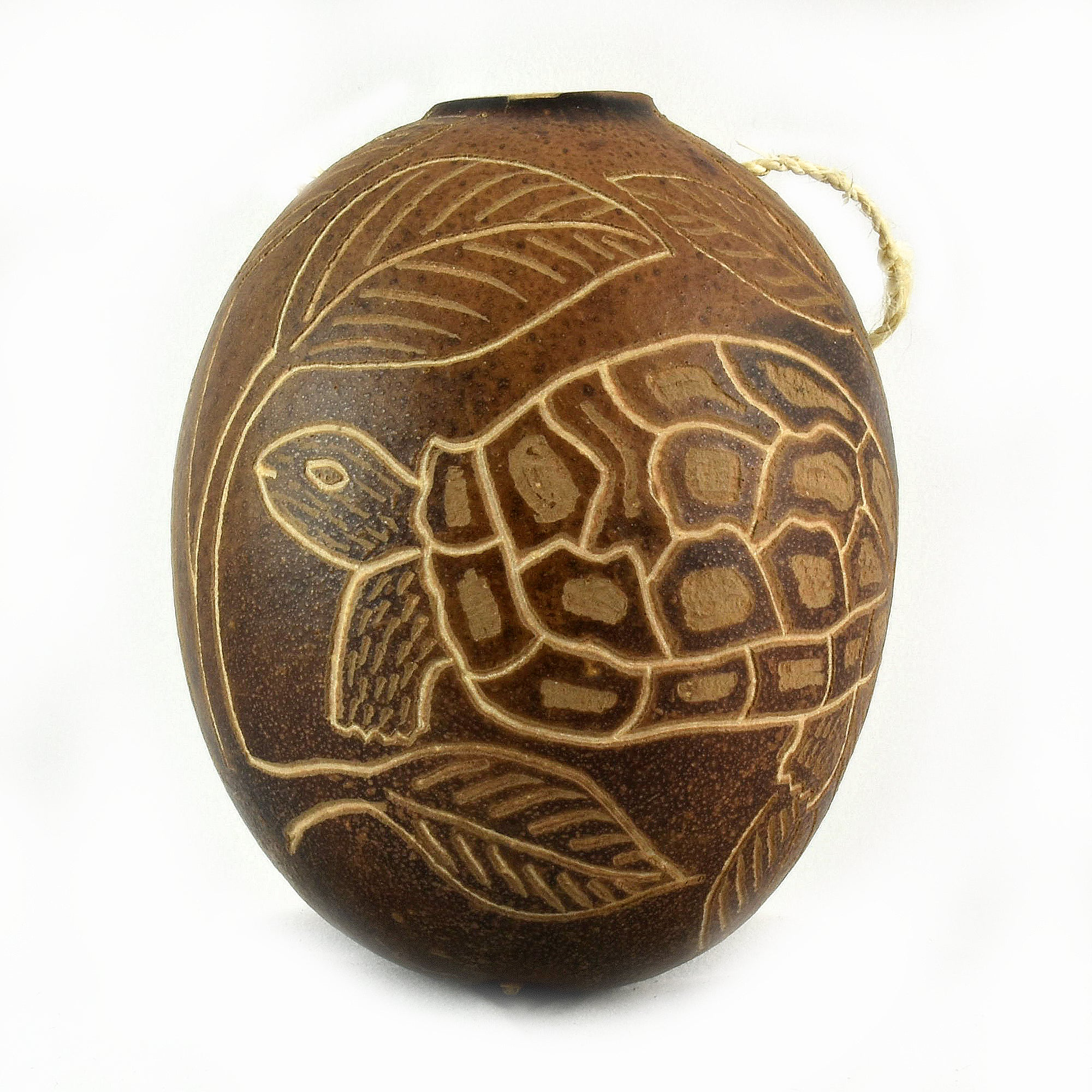 Turtle Reptile Calabash Christmas tree ornament and hand rattle