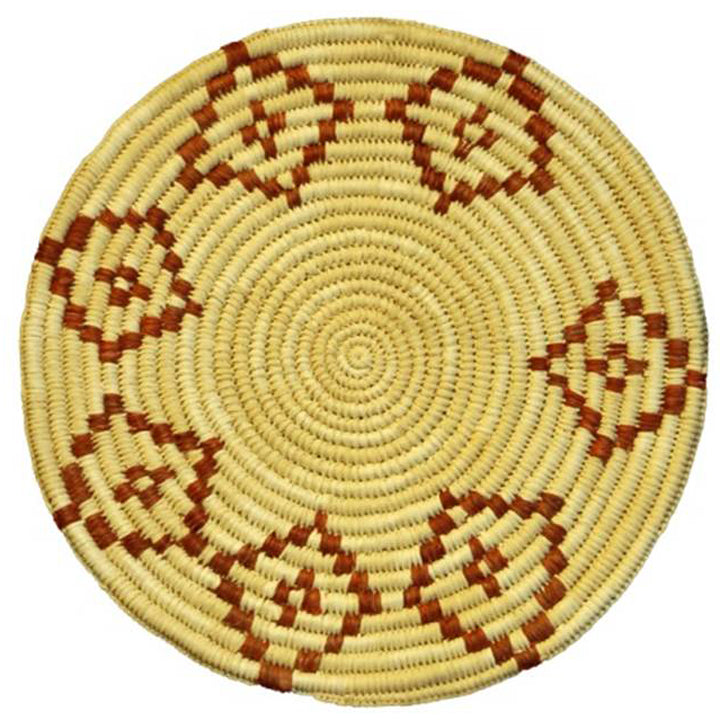 Woven hot pad (trivet) and center piece - black with diamond figures (TP103)