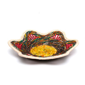 Colors of a Campfire - Handwoven Decorative Basket