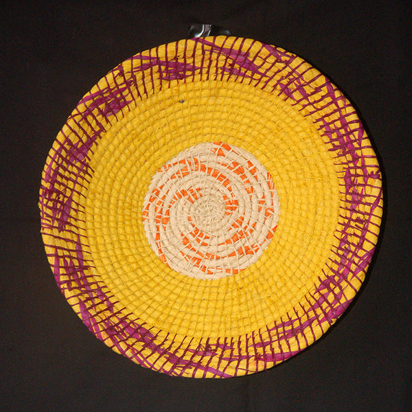 HANDMADE CHAMBIRA PALM FIBER BASKET - WB382 - WOVEN BY ARTISAN FROM PERUVIAN AMAZON