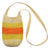 Fair-Trade Bottle Carrier/Wine Tote with orange and yellow bands (WCB159)