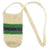 Fair-Trade Bottle Carrier/Wine Tote with green and black bands (WCB359)