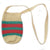 Fair-Trade Bottle Carrier/Wine Tote double green and red bands (WCC157)