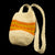 Fair-Trade Bottle Carrier/Wine Tote double orange and yellow bands (WCC159)